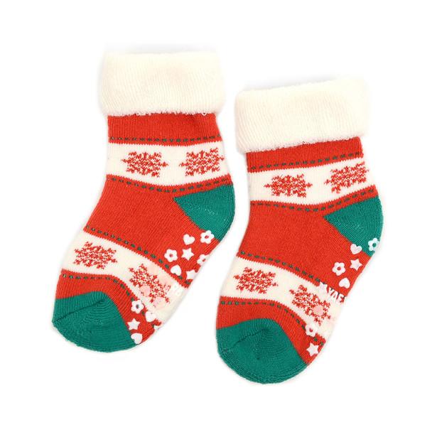 3 Pairs Pack Infants Christmas Holidays Crew Socks - 3PK-IXMS