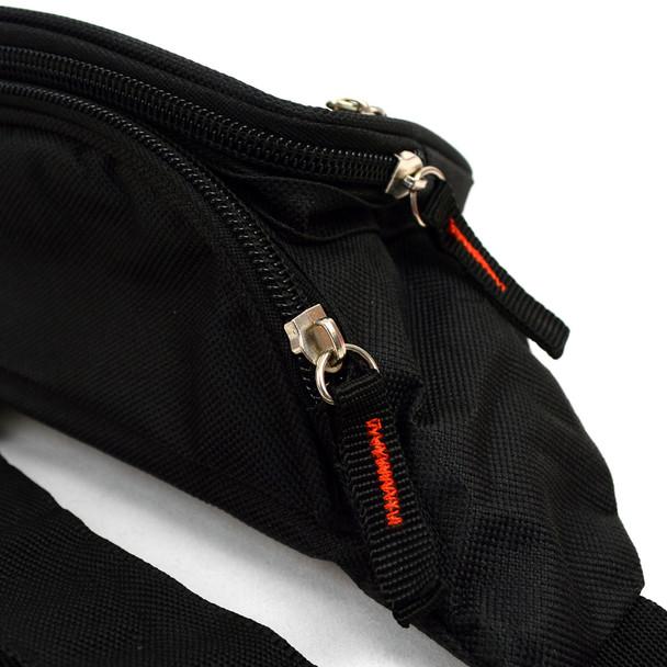 Black Fanny Waist Bag with Adjustable Strap - FBW1852