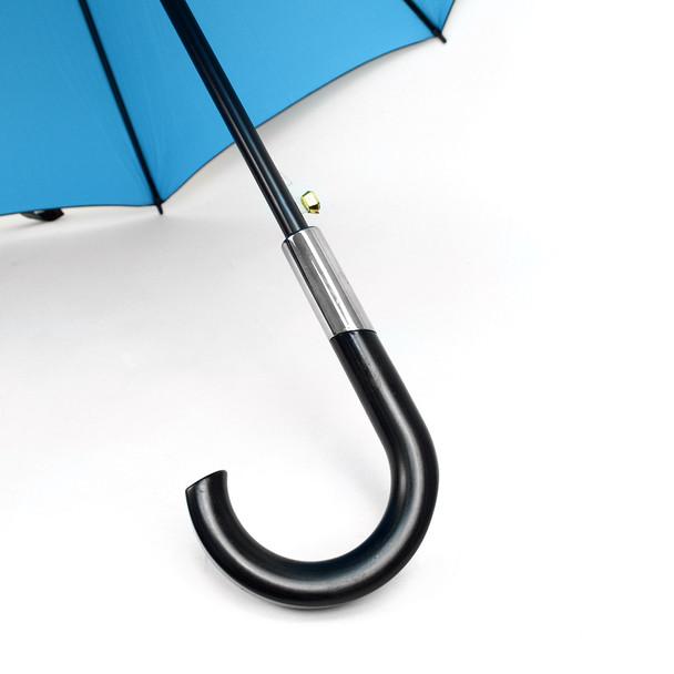 Black and Turquoise Auto Open Canopy Umbrella -UM18058-BLK