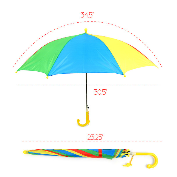 Kid's Rainbow Umbrella - UK18013-RBW