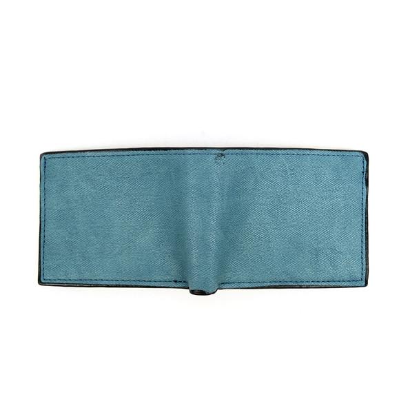 Bi-Fold Leather Men's Blue Wallet - MLW5192-BL