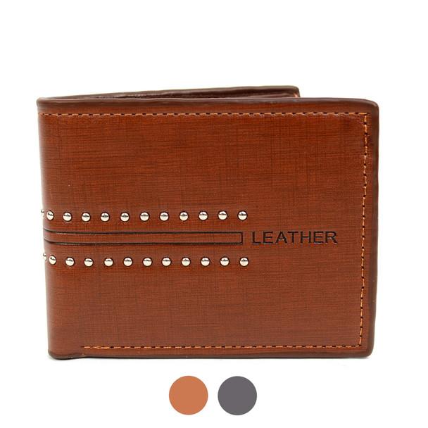 Bi-Fold  Leather Men's Wallet - MLW5195