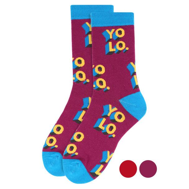 "Women's ""YOLO"" Novelty Socks - LNVS1905"