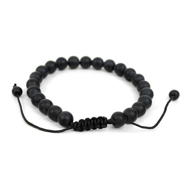 "Genuine Leather & Natural Stone ""Love"" Two Pieces Bracelet Set for Men - 2BRCLT18"