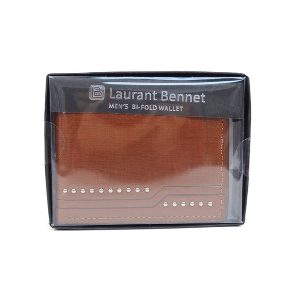 Bi-Fold  Leather Men's Wallet - MLW5196-BR