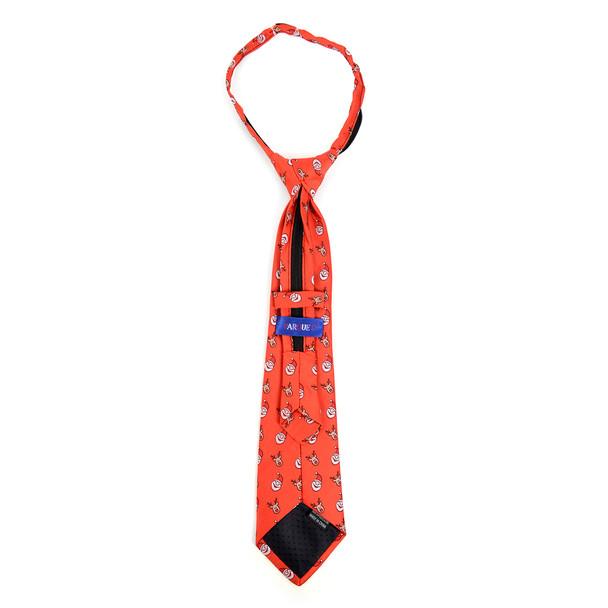 Boy's Christmas Santa Claus Red Zipper Tie - MPWZ-106