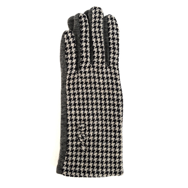Houndstooth Touch Screen Women's Gloves - LWG22
