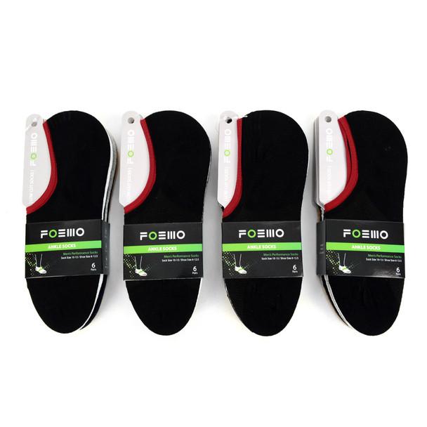 6 Pairs Pack  Men's Ankle  Socks - LC6PK/ASST