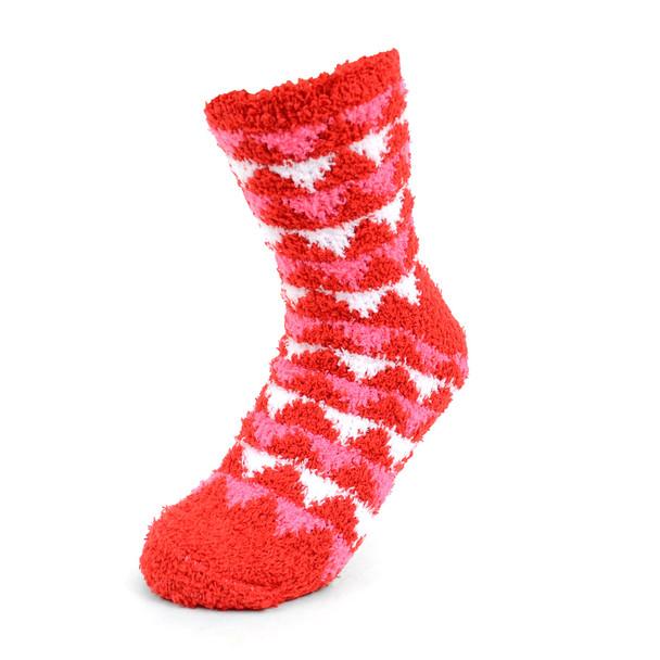 Assorted (3 Pairs) Women's Geometric Warm Fuzzy Socks - 3PR-LFS3