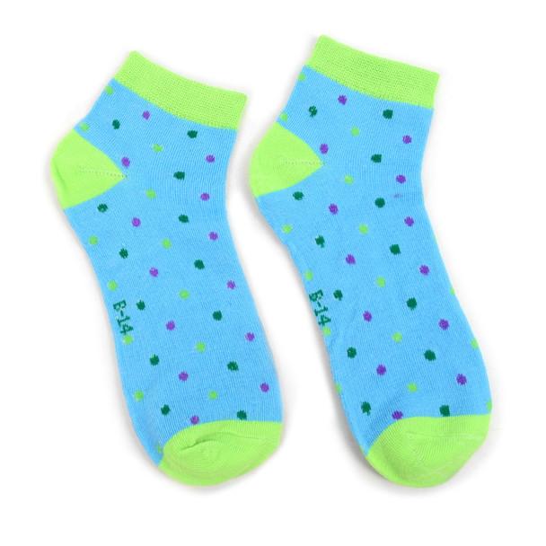 Assorted (6 pairs/pack) Women's Polka Dots Low Cut Socks - LN6S1702