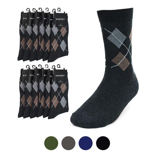 12pc. Pack Feraricci Sock MS9129