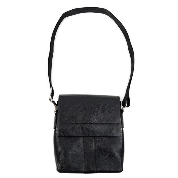 PU Leather Black Small Crossbody Messenger Bag - FBG1837
