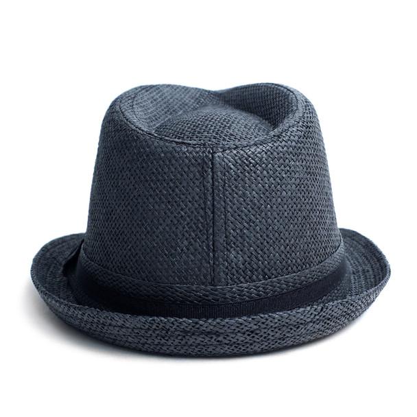 Spring/Summer Short Brim Banded Fedora Hat - H180604