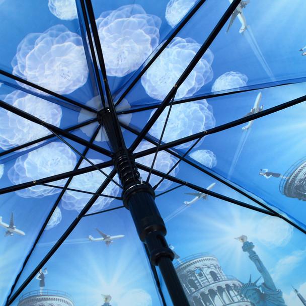 Around the World Monuments Plastic Canopy Umbrella - UM18075