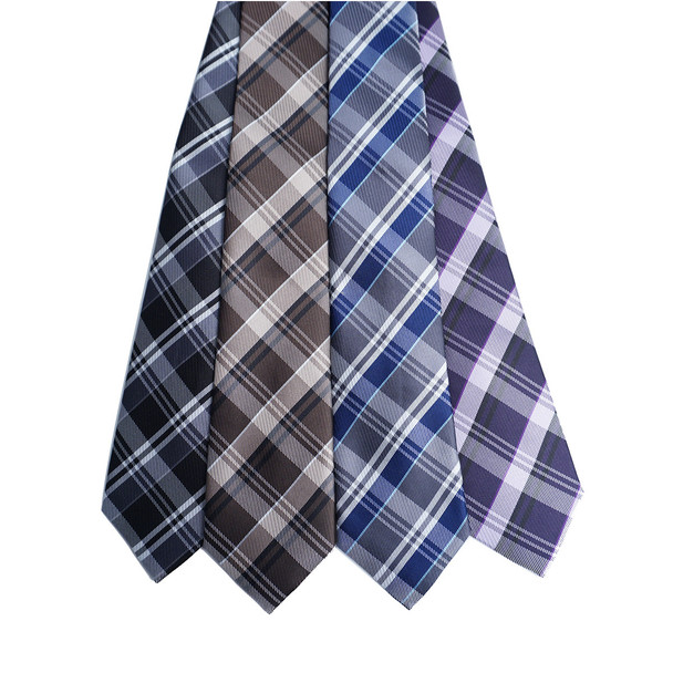 Plaid Microfiber Poly Woven Tie - MPW6925