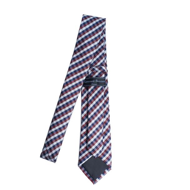 Plaid Microfiber Poly Woven Tie - MPW6919