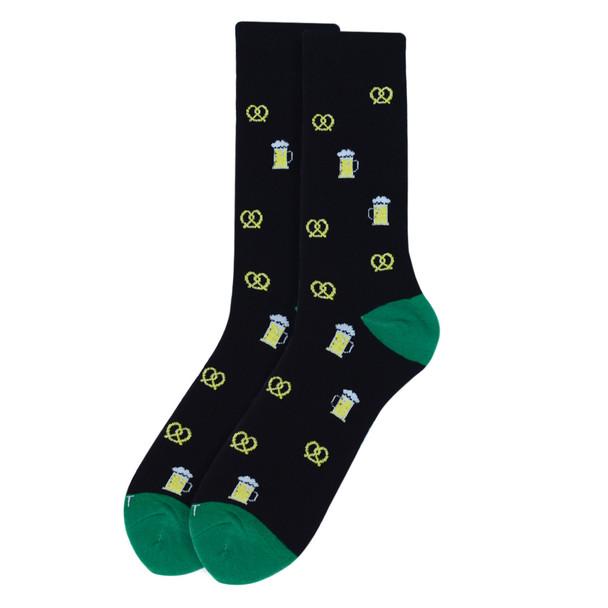 Men's Premium Pretzels & Beer Novelty Socks - NVPS2010