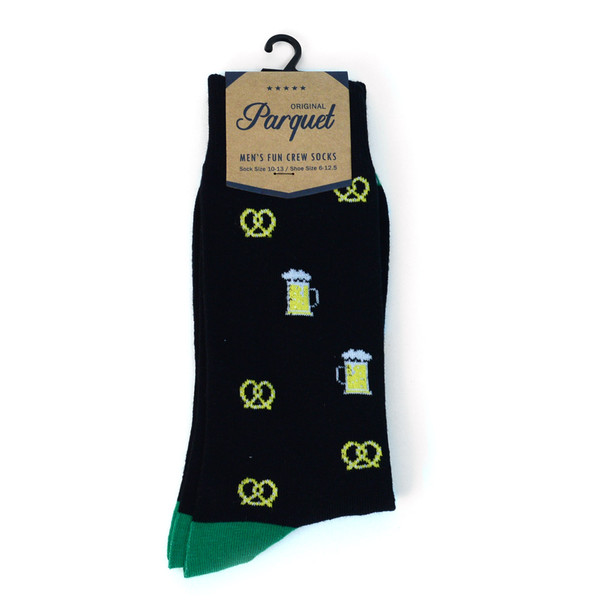 Men's Premium Pretzels & Beer Novelty Socks - NVPS2010