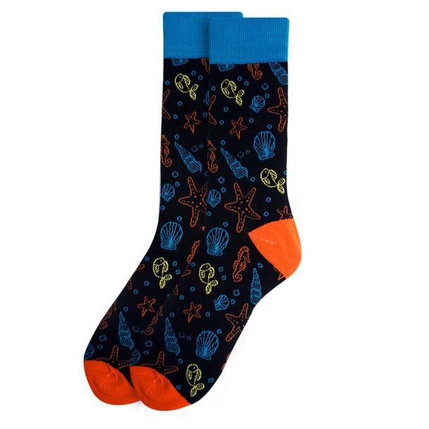 Men's Under the Sea Novelty Fun Socks - NVS19401-BK
