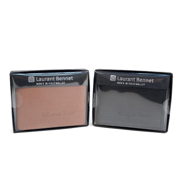 Men's Bi-Fold Leather Wallet - MLW04165_N