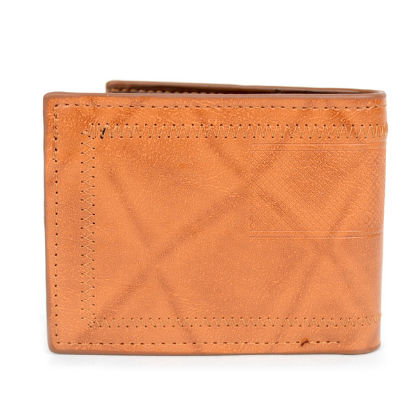 Studded Bi-Fold Leather Men's Wallet - MLW5280