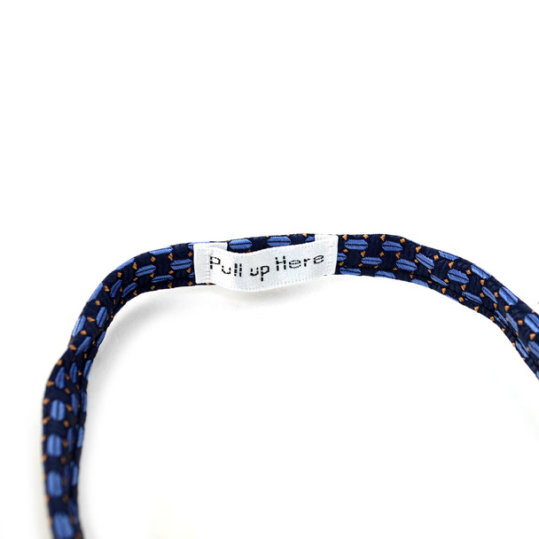 Men's Navy Geometric Zipper Tie - MPWZ-BL2