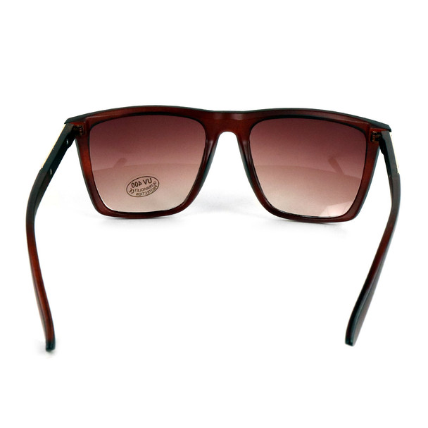 Brown Rectangular Sunglasses - MSG1006
