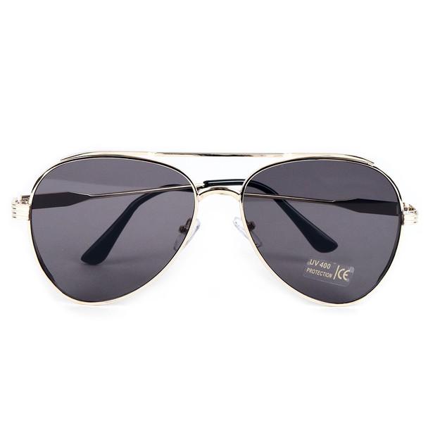 Gold Metal Frame Aviator Sunglasses - LSG1010