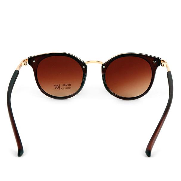 Dark Brown Round Women Sunglasses - LSG1011