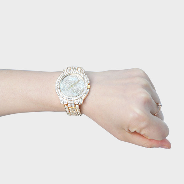 Gold Tone Ladies Dressy Watch - LWT2002-GD