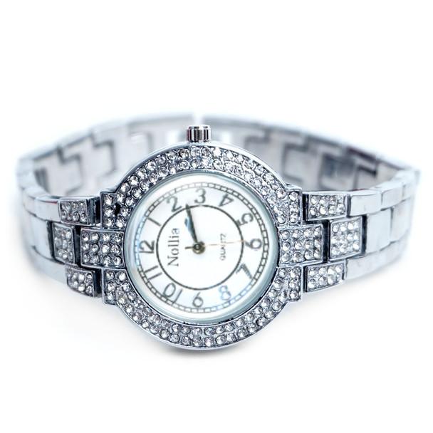 Silver Tone Ladies Dressy Watch - LWT2005-SIL