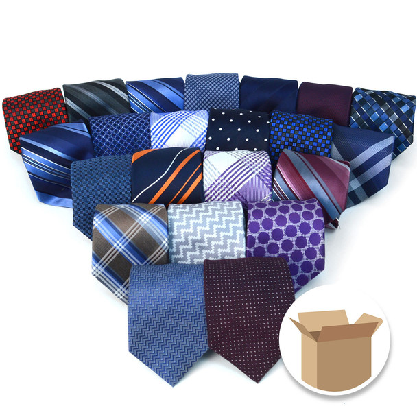 [120pc] 100% Silk Designer Quality Ties Random Assorted Pack- SWASST-120