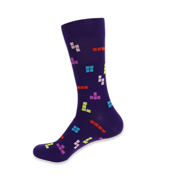 Men's Novelty Tetris Game Socks - NVS19427