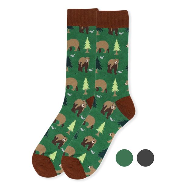 Men's Novelty Bear Socks