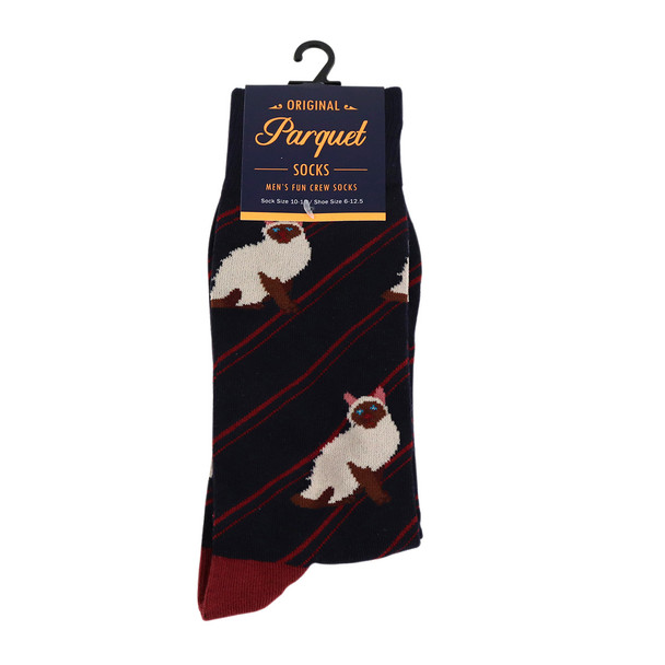 Men's Novelty Siamese Cat Socks