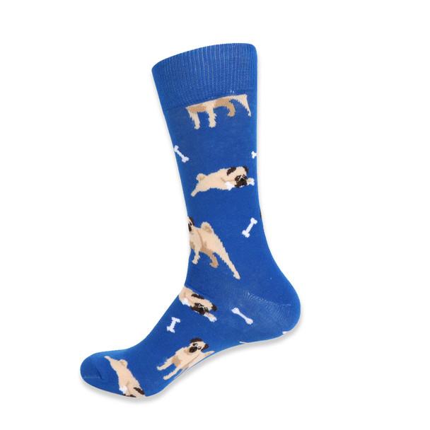 Men's  Novelty  Pug Dog Socks - NVS19408