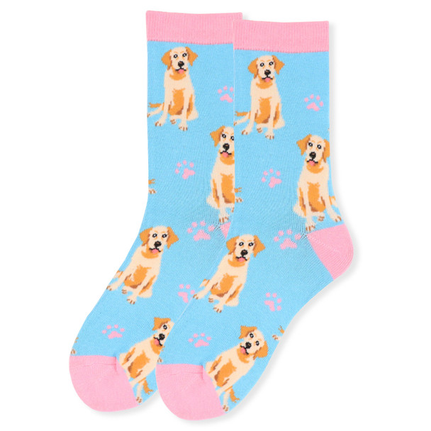 Women's Novelty Retriever Socks - LNVS19411-LTBL