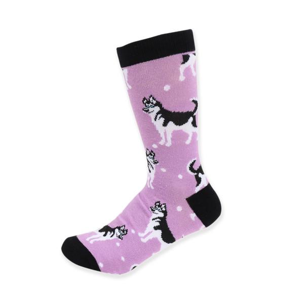 Women's Novelty Siberian Husky Dog Socks