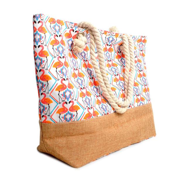Flamingo Summer Ladies Tote Bag - LTBG1219