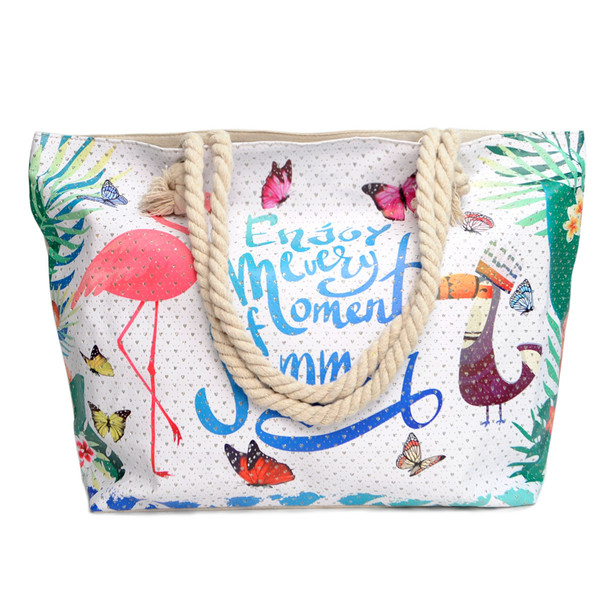 Summer Tropical Rhinestones Ladies Tote Bag - LTBG1210