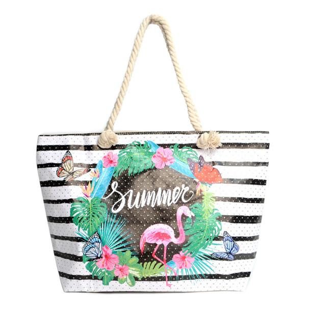 Deal 240pc Summer Ladies Tote Bag - LTBG240-BULK