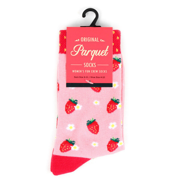 Women's Strawberry Novelty Socks - LNVS19501-RD