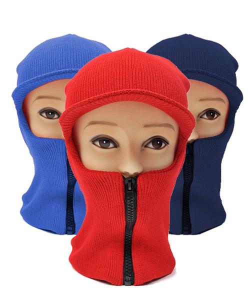 12pc Pack Ski Mask with Visor and Zipper Full Face Mask LH1004