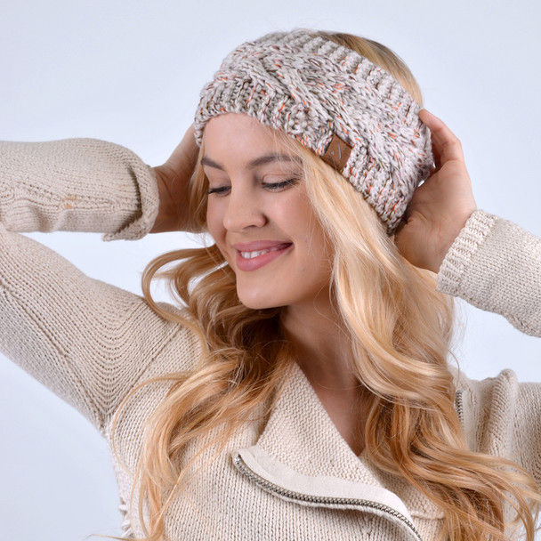 Women's Speckled Knit Winter Head Band- WHB5001