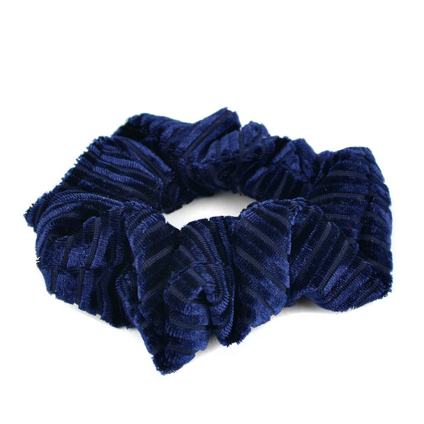 12pc Solid Velvety Scrunchie Hair Ties - 12SHS-SLD-3