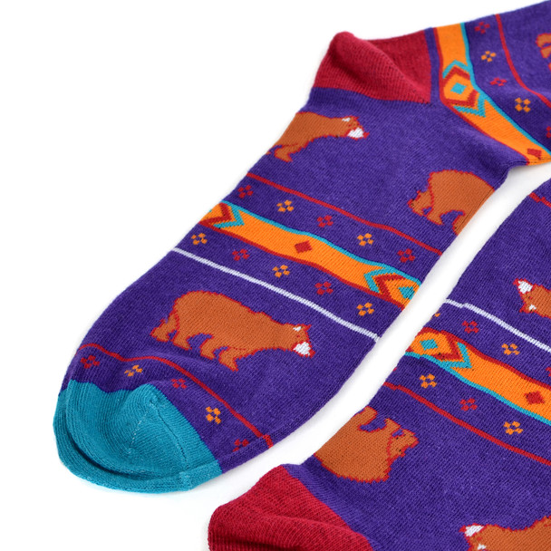 Men's Brown Bear Novelty Fun Socks - NVS19432