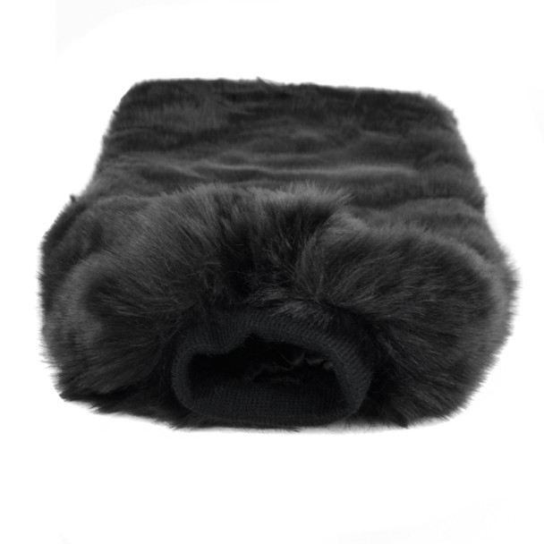 Faux Fur Winter Leg Warmers - FLW1004-BK