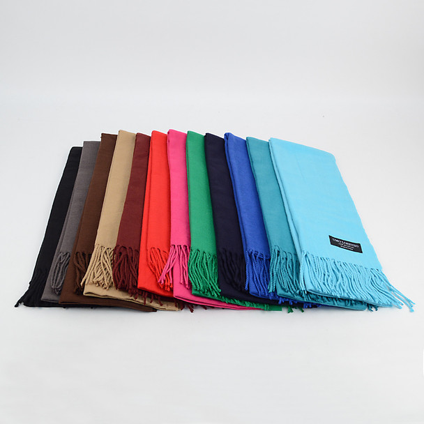 Unisex Solid Color Cashmere Feels Acrylic Scarves AS1301