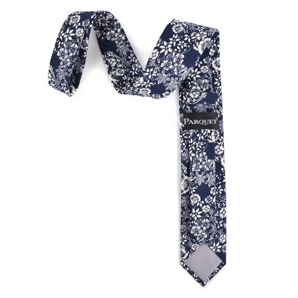 """2.25"""" Floral Cotton Slim Tie - NVC-FLORAL8"""