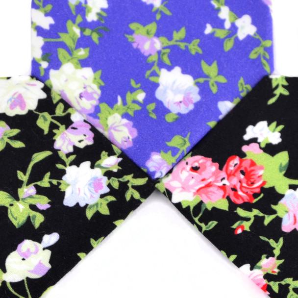 """2.25"""" Floral Cotton Slim Tie - NVC-FLORAL10"""